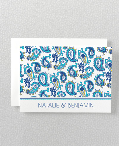 Paisley Folded Note Card