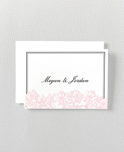 Peonies Folded Note Card