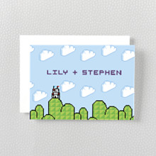 Pixel Perfect---Folded Note Card