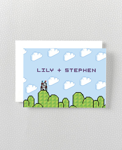 Pixel Perfect Folded Note Card