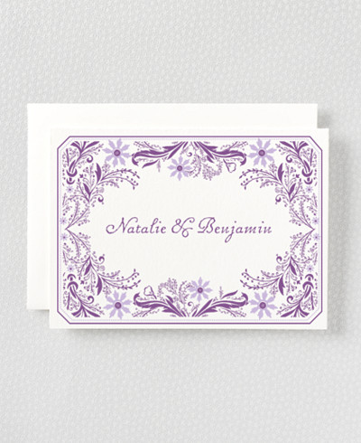 Provence Letterpress Folded Note Card