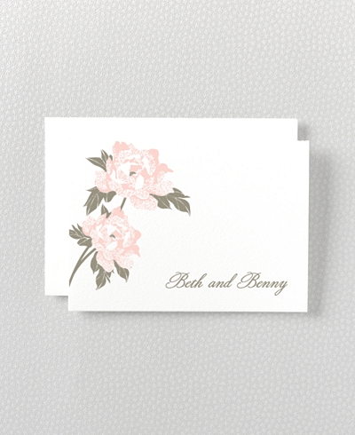 Romantic Garden Letterpress Folded Note Card