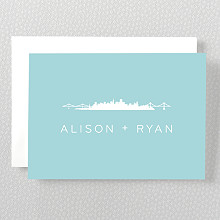San Francisco Skyline: Folded Note Card