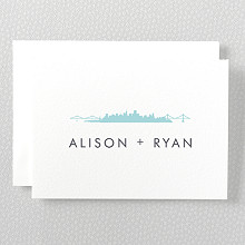 San Francisco Skyline---Letterpress Folded Note Card