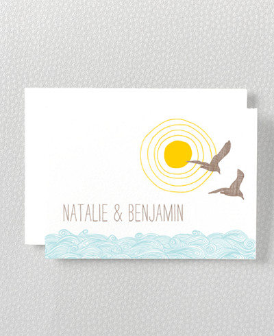 Seagulls Folded Note Card