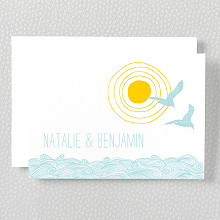 Seagulls: Letterpress Folded Note Card