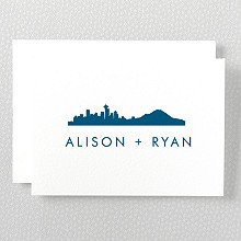 Seattle Skyline---Folded Note Card