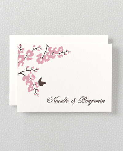 Shangri-La Letterpress Thank You Card