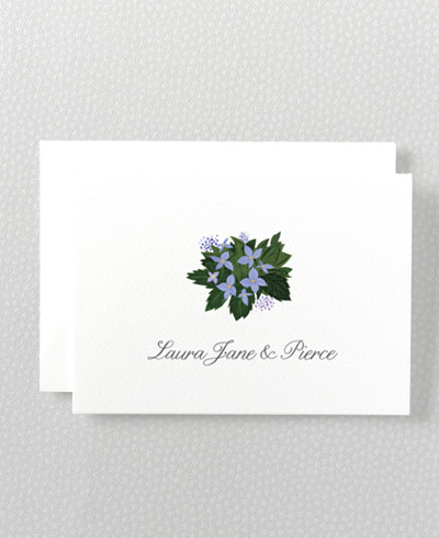 Southern Belle Folded Note Card