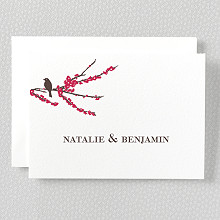 Sparrows---Letterpress Folded Note Card