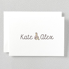 Tie The Knot---Letterpress Folded Note Card