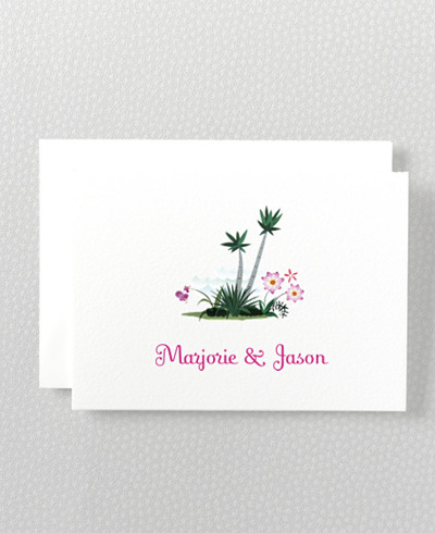 Tropical Paradise Folded Note Card