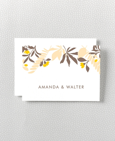 Tropic Letterpress Folded Note Card