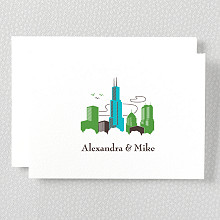 Visit Chicago---Letterpress Folded Note Card