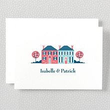 Visit Washington, D.C.---Letterpress Folded Note Card