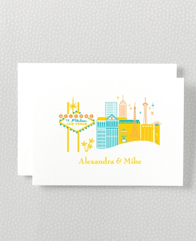 Visit Las Vegas Letterpress Folded Note Card