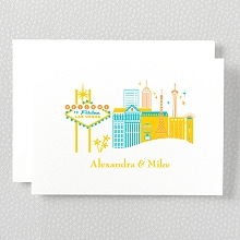 Visit Las Vegas: Letterpress Folded Note Card