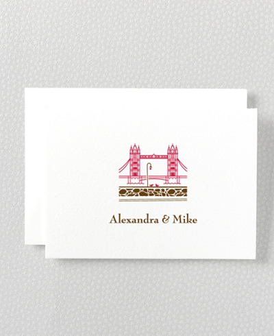 Visit London Letterpress Folded Note Card