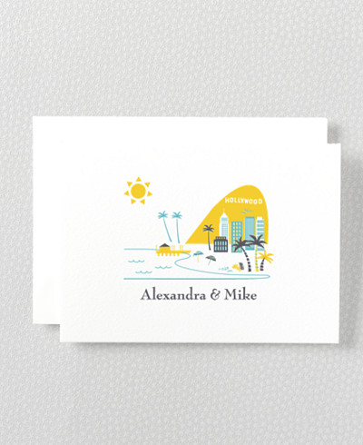 Visit Los Angeles Letterpress Folded Note Card