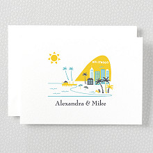 Visit Los Angeles: Letterpress Folded Note Card