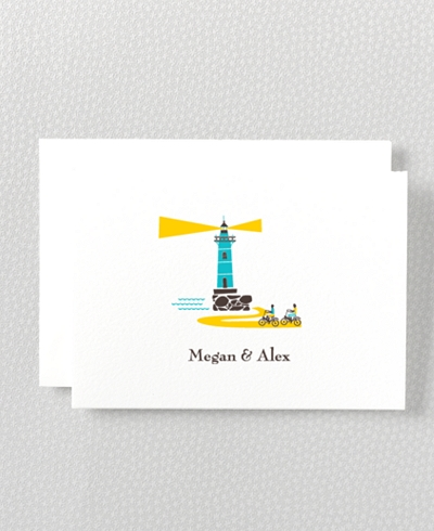 Visit Martha's Vineyard Letterpress Folded Note Card