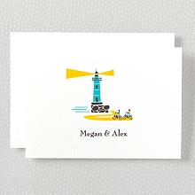 Visit Martha's Vineyard---Letterpress Folded Note Card