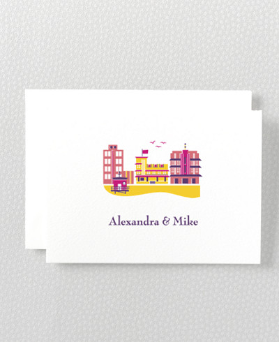 Visit Miami Folded Note Card