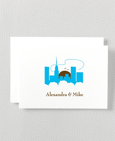 Visit New York Letterpress Folded Note Card