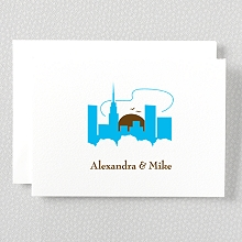 Visit New York---Folded Note Card