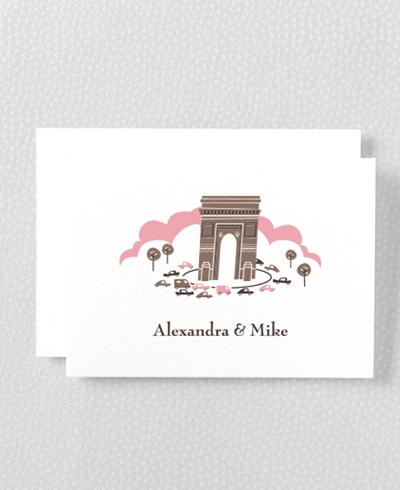 Visit Paris Letterpress Folded Note Card