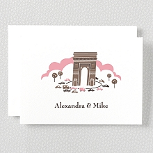 Visit Paris---Letterpress Folded Note Card