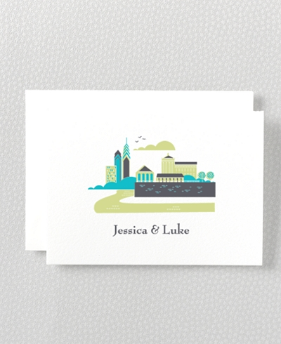 Visit Philadelphia Letterpress Folded Note Card