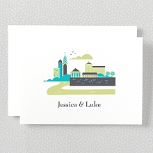 Visit Philadelphia---Letterpress Folded Note Card