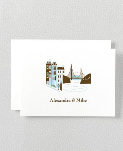 Visit San Francisco Letterpress Folded Note Card