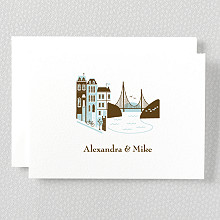 Visit San Francisco---Letterpress Folded Note Card