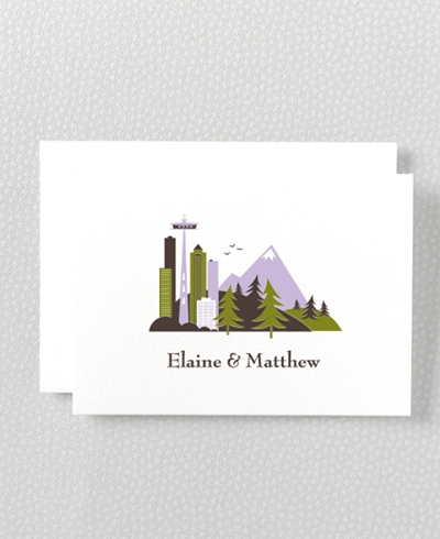 Visit Seattle Letterpress Folded Note Card