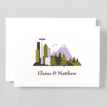 Visit Seattle---Letterpress Folded Note Card