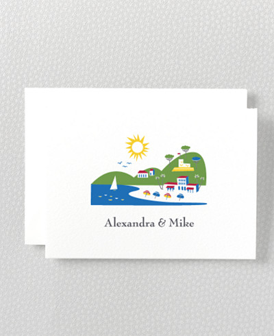 Visit Riviera Folded Note Card