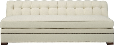 Kent Made To Measure Tufted Armless Sofa from the 1911 Collection