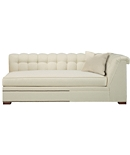Kent Made To Measure Tufted Right-Arm Facing Corner Armless Sofa