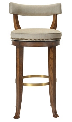 Newbury Swivel Curved Back Bar Stool from the 1911 Collection