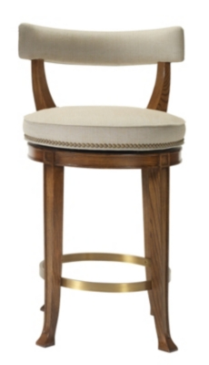 Newbury Swivel Curved Back Counter Stool from the 1911 Collection