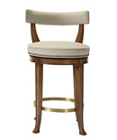 Newbury Swivel Curved Back Counter Stool
