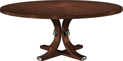 artisan round dining table top & base - mahogany from the 1911