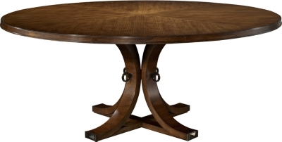 Artisan Round Dining Table Top Base Ash from the 1911