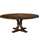 Artisan Round Dining Table Top & Base - Ash