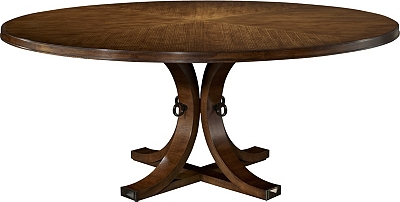 artisan round dining table top & base - ash from the 1911 collection