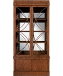 Artisan 2-Door Mahogany Grand Cabinet with Glass Doors