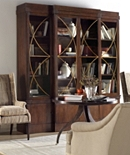 Artisan 4-Door Mahogany Grand Cabinet with Glass Doors