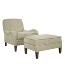 Emory Ottoman with Exposed Legs